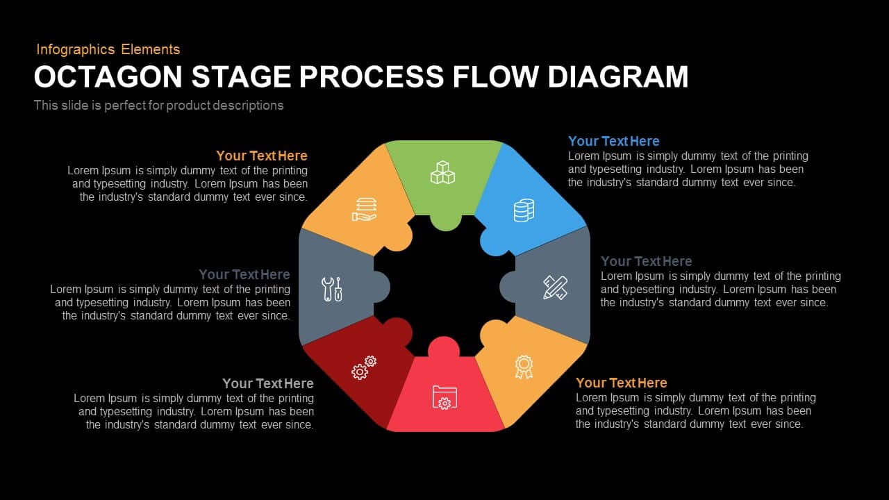 hight resolution of octagon stage process flow diagram powerpoint template and keynote slide