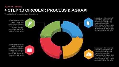 small resolution of 4 step 3d circular process diagram 1