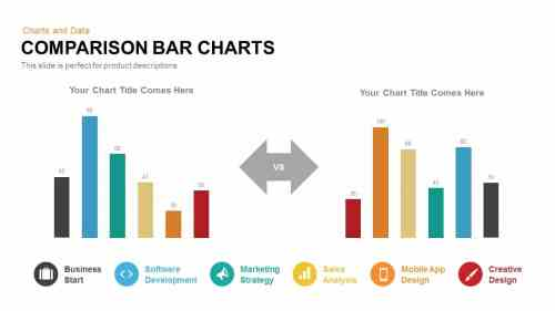 small resolution of comparison bar charts powerpoint template and keynote slide
