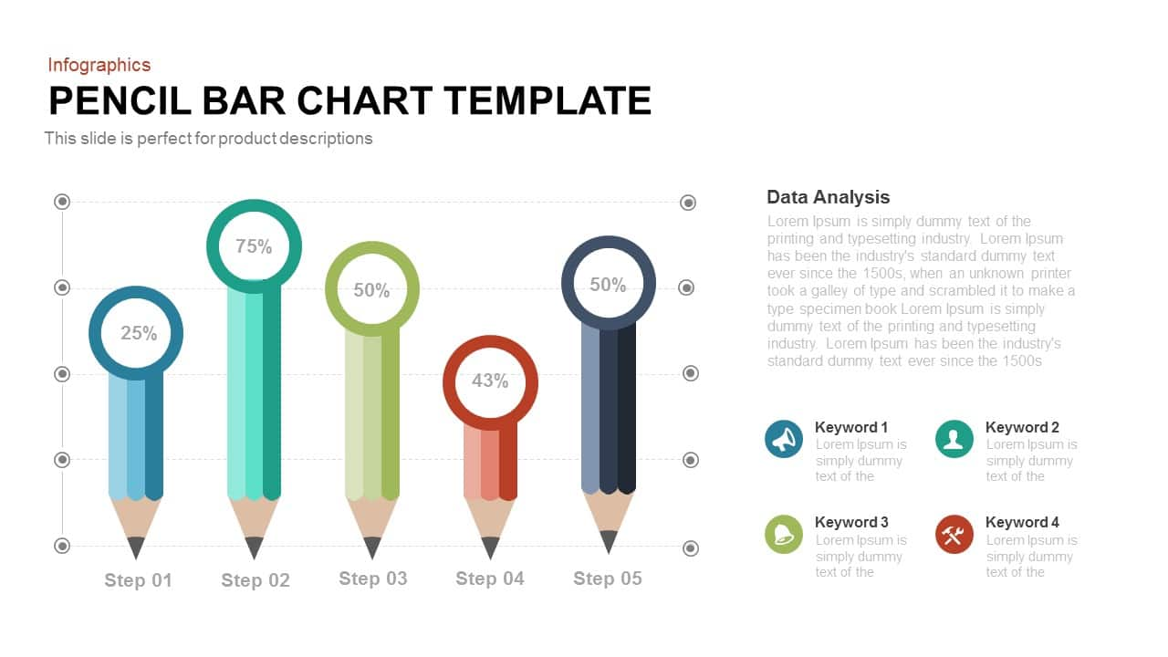 hight resolution of pencil bar chart template for powerpoint and keynote