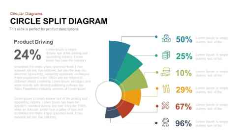 small resolution of circle split diagram powerpoint template and keynote slide