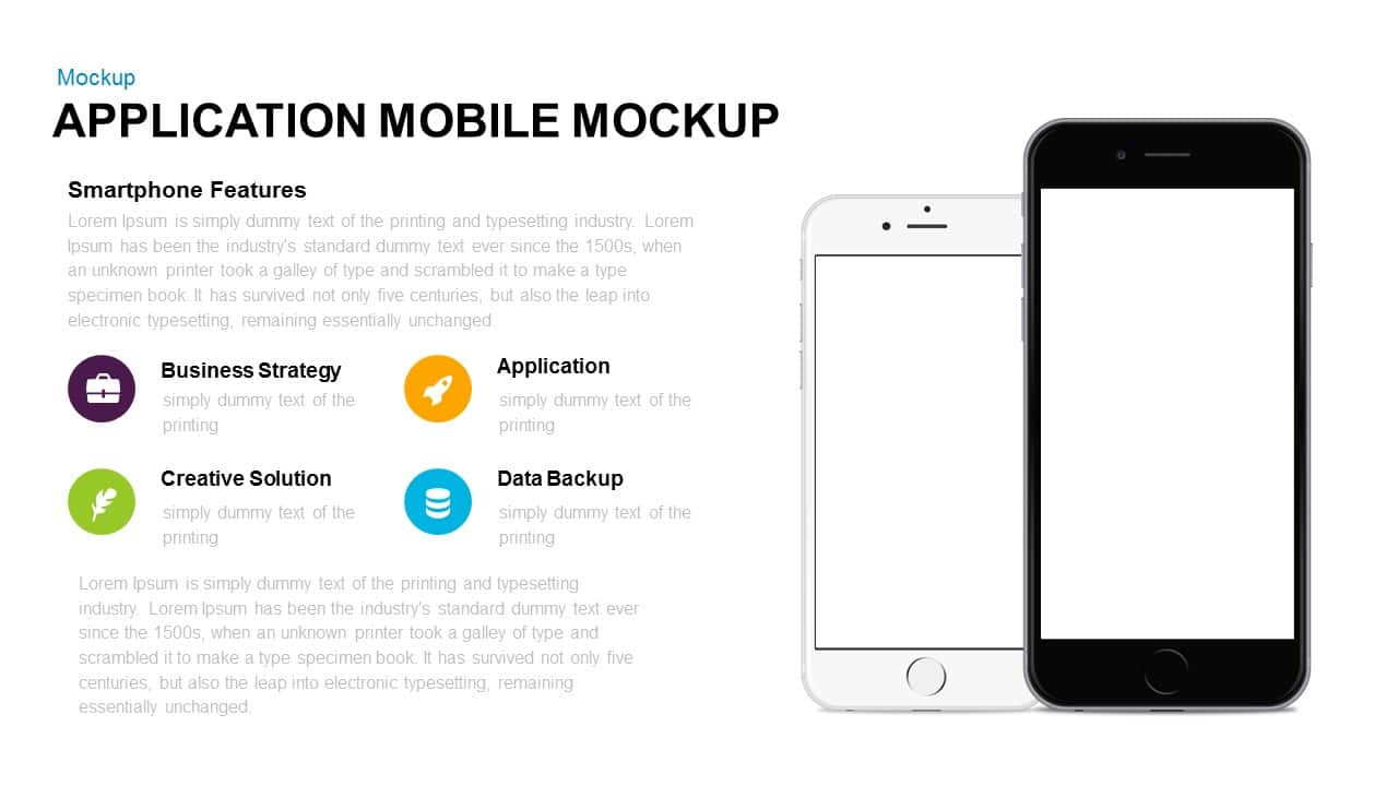 Application Mobile Mockup Template for PowerPoint and Keynote