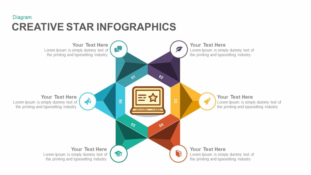 creative infographics star powerpoint