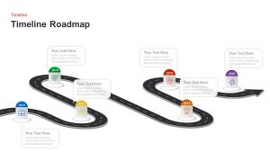 Timeline Roadmap with Milestones PowerPoint Template and
