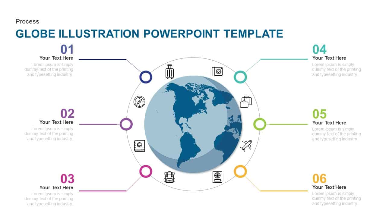 hight resolution of globe earth illustration powerpoint template and keynote