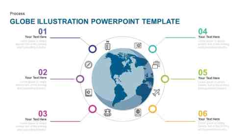 small resolution of globe earth illustration powerpoint template and keynote