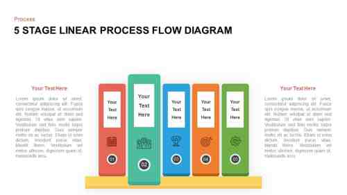 small resolution of 5 steps linear process flow diagram template for powerpoint and keynote