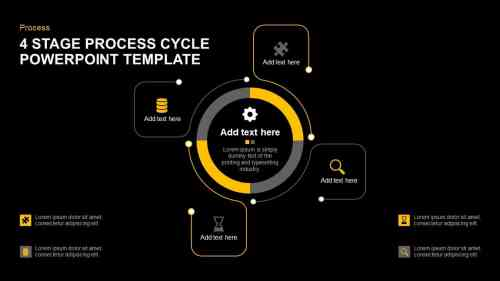 small resolution of 4 stage process cycle template for powerpoint