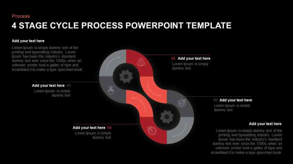medium resolution of 4 step cycle process powerpoint template and keynote