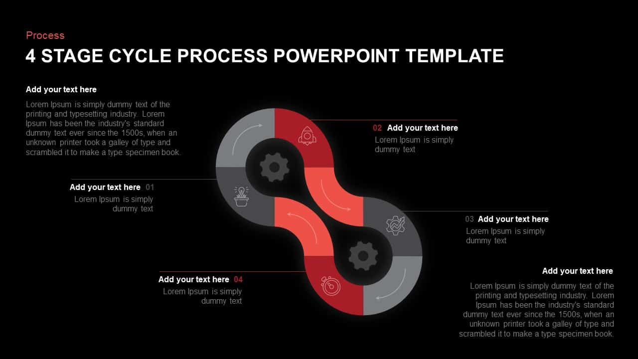hight resolution of 4 step cycle process powerpoint template and keynote