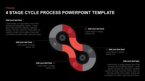 small resolution of 4 step cycle process powerpoint template and keynote