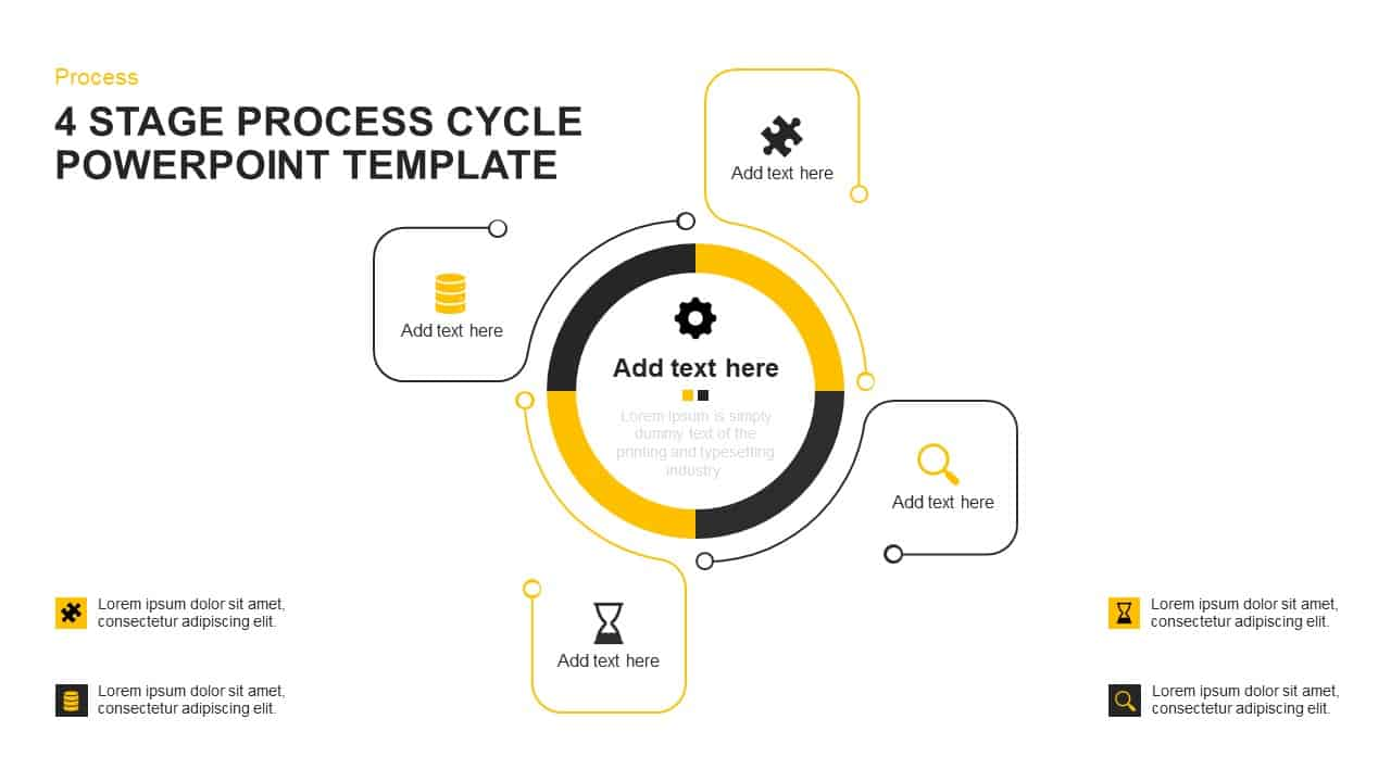 hight resolution of process cycle powerpoint template