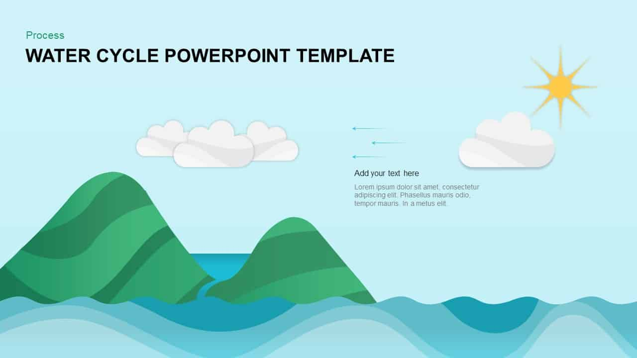 hight resolution of water cycle condensation powerpoint template