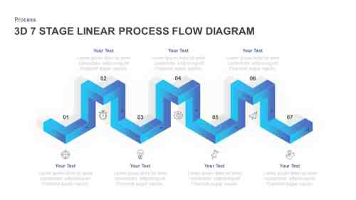 small resolution of linear 3d process flow diagram for powerpoint
