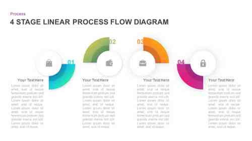small resolution of 4 stage linear process flow diagram for powerpoint