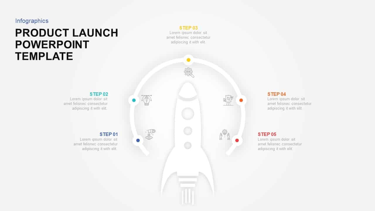 Product Launch PowerPoint Template & keynote Diagram