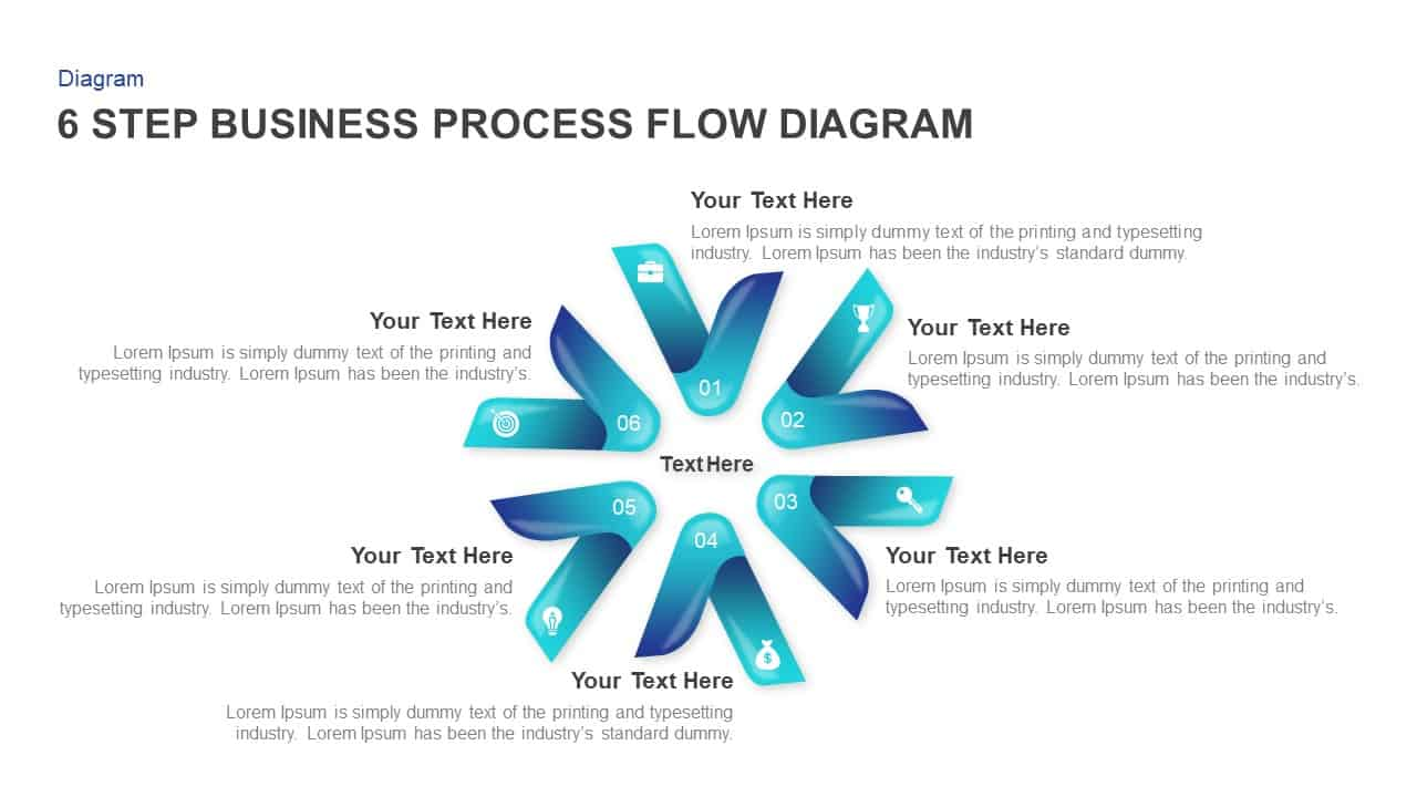 hight resolution of 6 step business process flow diagram templates