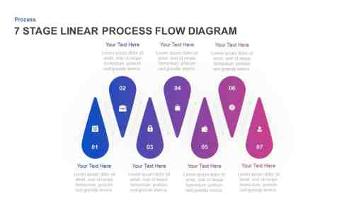 small resolution of 7 stage linear process flow diagram powerpoint template