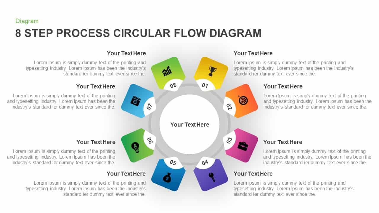 hight resolution of circular process flow diagram powerpoint template