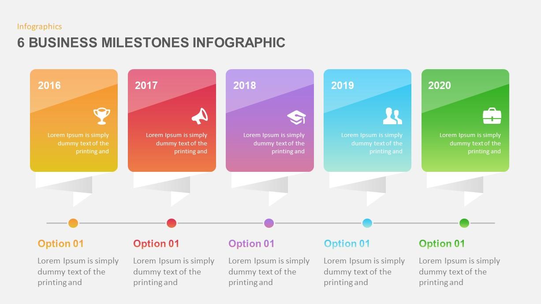 6 Business Milestones PowerPoint Timeline | Slidebazaar