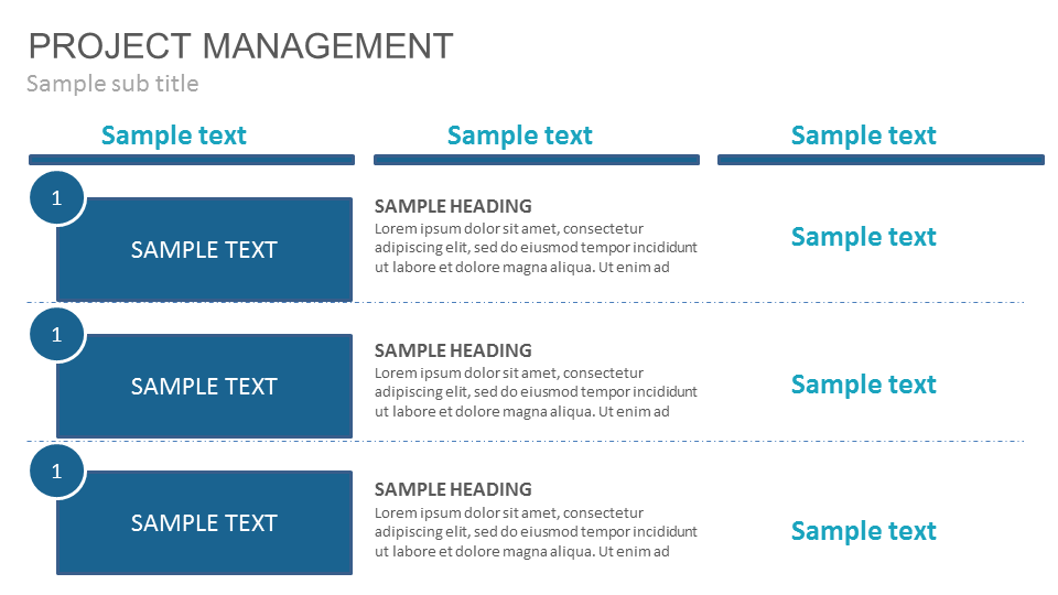 Project Management Powerpoint Presentation Slide Templates