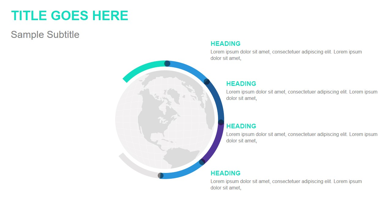 hight resolution of globe infographic template