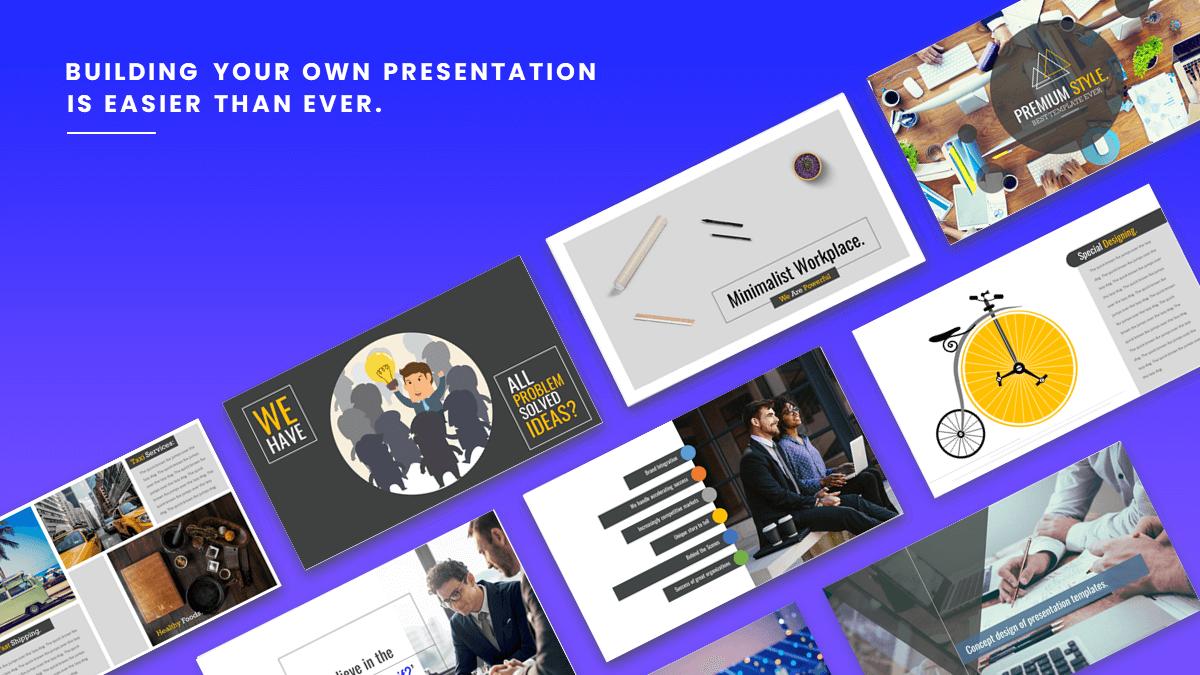 Layout presentation template master