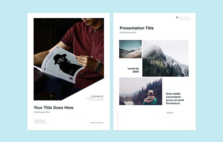 A4 Keynote Template Free Download - Professional and Clean