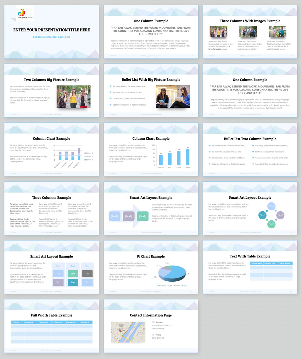 Clean Simple Powerpoint Template Elegant Presentation Template