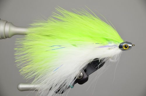 galloup's barely legal fish skull chartreuse white