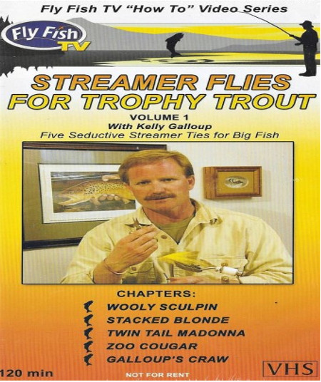 Streamer Flies For Trophy Trout VHS Tape