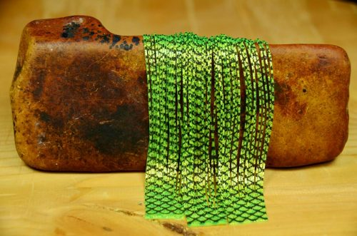 barred crazy legs chartreuse pearl flake