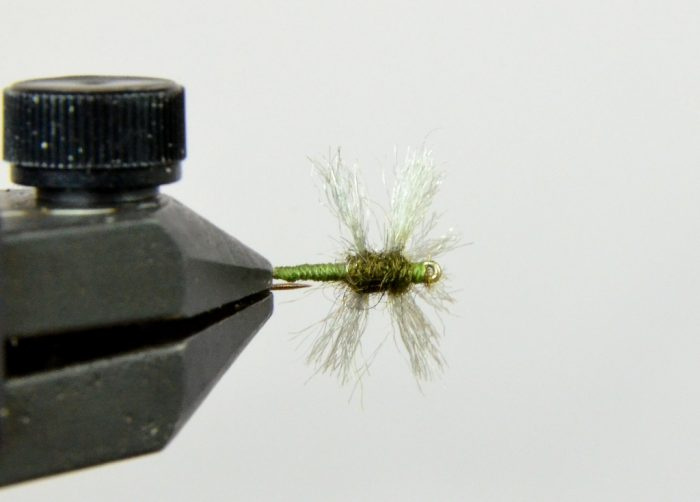 galloup's compara spinner olive bottom