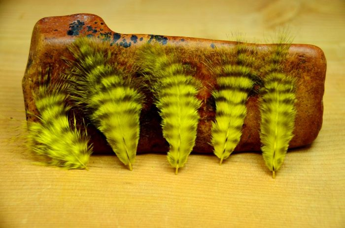 grizzly marabou yellow