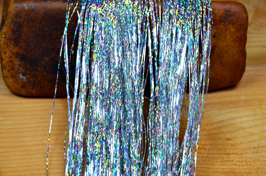 holographic flashabou silver