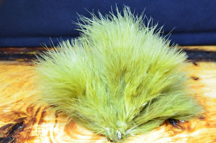 strung blood quill marabou olive