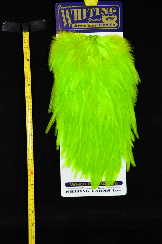 whiting american rooster saddle chartreuse