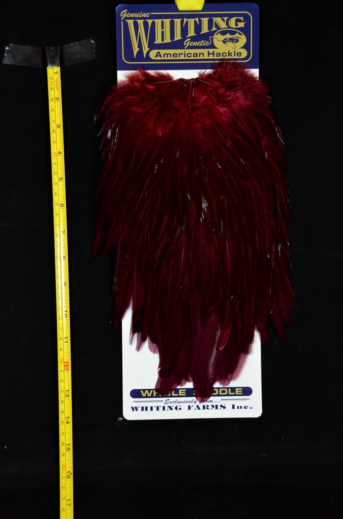 whiting american rooster saddle claret