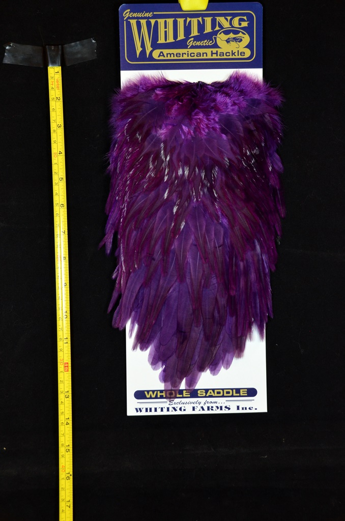 whiting american rooster saddle purple