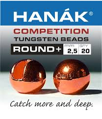 hanak competition slotted tungsten beads copper