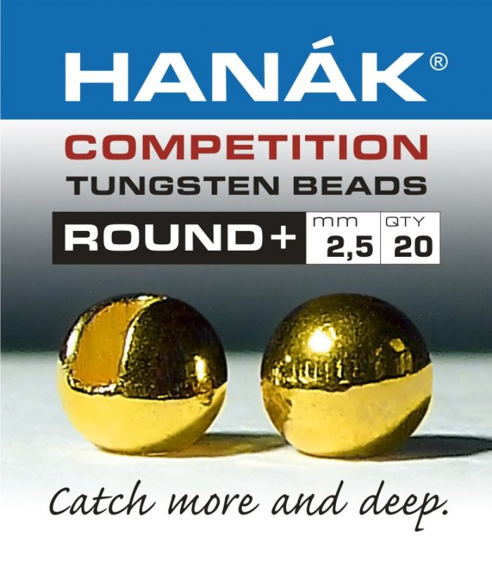 hanak competition slotted tungsten beads gold