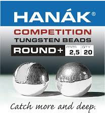 hanak competition slotted tungsten beads silver