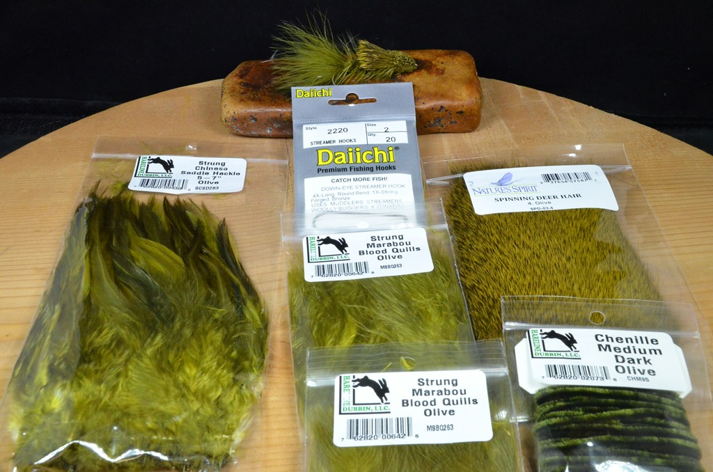 wooly sculpin tying kit olive 2