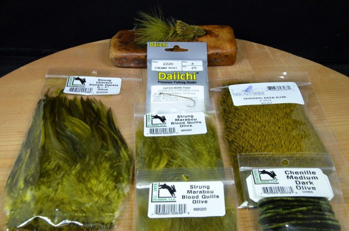 wooly sculpin tying kit olive