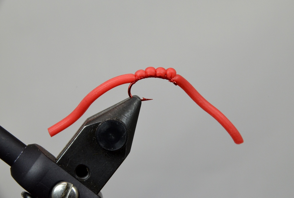 squirmy worm blood red