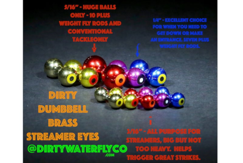 dirty water brass dumbbell eyes