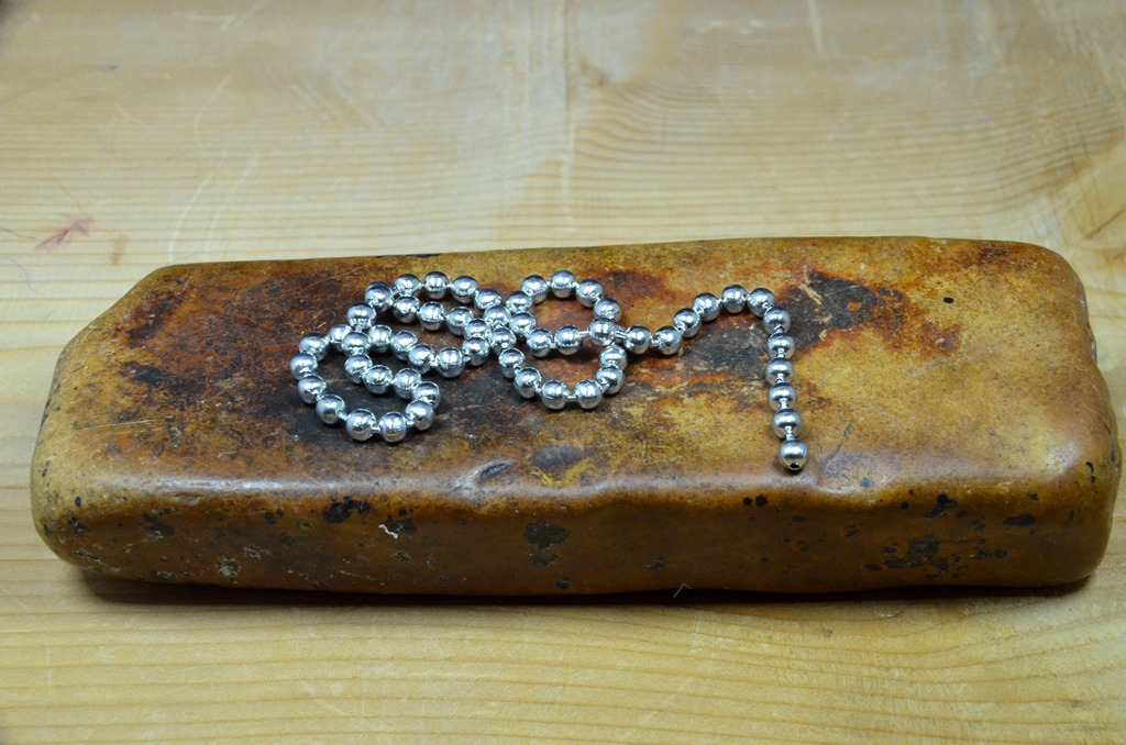 bead chain eyes large silver