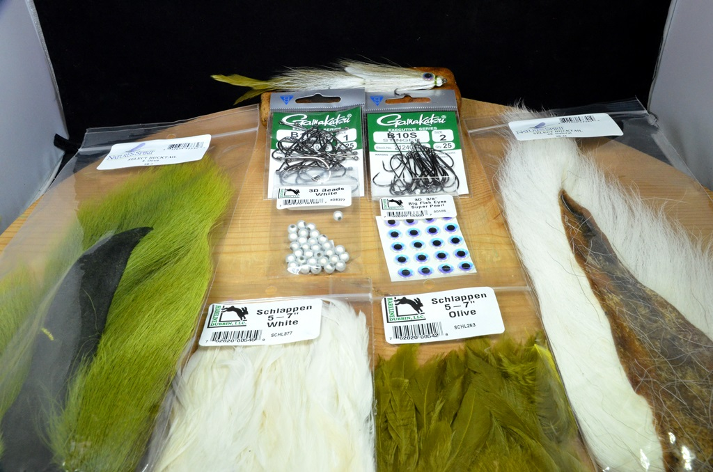"""double deceiver 6"""" tying kit olive white"""
