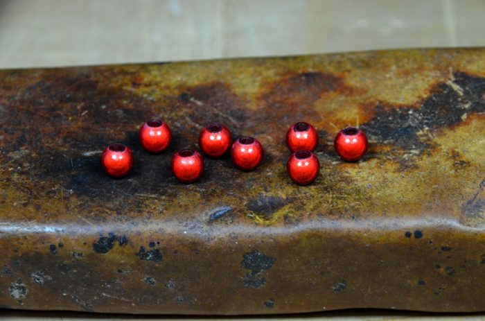 hareline 3d beads red