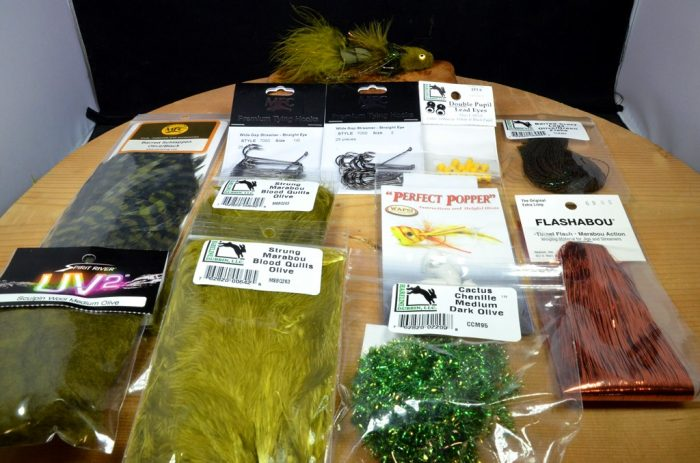 wooly tips up tying kit olive